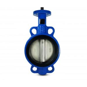 Дроссельный клапан DN100 - никелированный диск