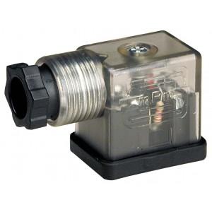 Подключить к электромагнитному клапану DIN 43650B со светодиодом - маленький