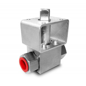 Шаровой кран высокого давления 1/4 дюйма SS304 HB22 монтажная плата ISO5211