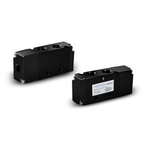 Клапан 4A210 5/2 1/4 дюйма с пневматическим управлением