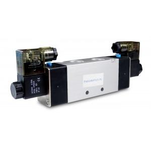Электромагнитный клапан 4V220 5/2 1/4 дюйма для пневматических цилиндров 230 В или 12 В, 24 В