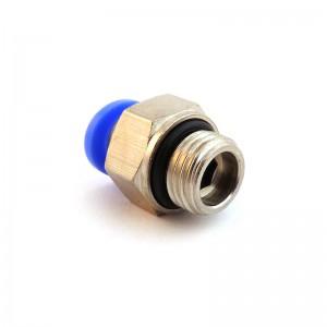 Штепсель ниппеля прямой шланг 12мм резьба 1/4 дюйма PC12-G02