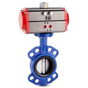 Дроссельный клапан DN40 с пневматическим приводом AT63