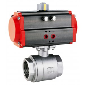 Латунный шаровой кран 1 1/4 дюйма DN32 с пневматическим приводом AT40