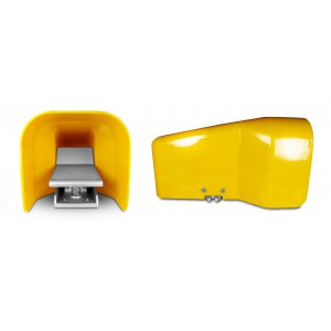 Педальный клапан, пневматическая педаль 5/2 1/4 для цилиндра 4F210LG - бистабильная с крышкой