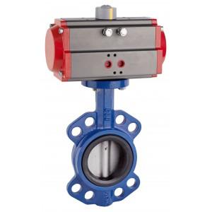 Дроссельный клапан DN80 с пневматическим приводом AT75