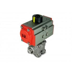 Шаровой кран из нержавеющей стали 1/2 дюйма DN15 PN125 с пневматическим приводом AT40