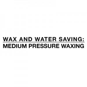 Экономия воды и воска - восковое среднее давление