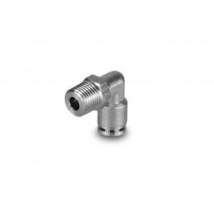 Штекерный ниппельный угловой шланг из нержавеющей стали 8 мм с резьбой 1/4 дюйма PLSW08-G02