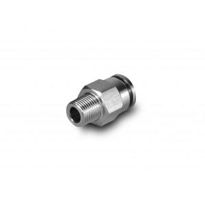 Штекерный ниппельный прямой шланг из нержавеющей стали 12 мм с резьбой 1/2 дюйма PCSW12-G04