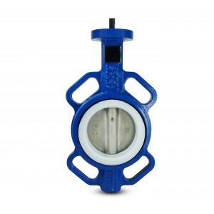 Клапан-бабочка, дроссель DN80 - PTFE, нержавеющая сталь