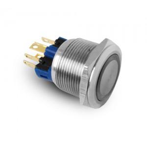 Кнопка 22 мм из нержавеющей стали IP65 LED 230V или 24V синяя кратковременная