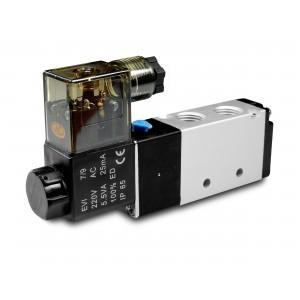 Электромагнитный клапан 5/2 4V410 1/2 дюйма для пневматических цилиндров 230 В или 12 В, 24 В