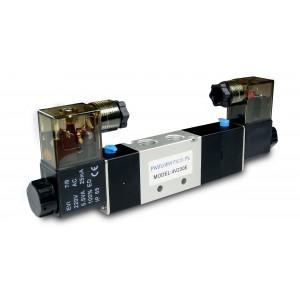 Электромагнитный клапан 5/3 4V230E 1/4 дюйма для пневматических цилиндров 230 В или 12 В, 24 В