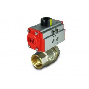 Латунный шаровой кран 1 1/2 дюйма DN40 с пневматическим приводом AT52